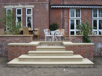 Stunning Bespoke Steps with our Stonemasonry Services